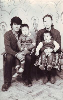 С Зибой и Инамжаном. 1986
