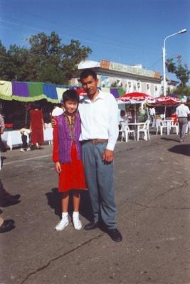 Элеонора с папой. 1999